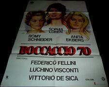 1962 Boccaccio '70 ORIGINAL POSTER Federico Fellini Anita Ekberg Sophia Loren