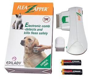 Electronic Epilady Electric Pet Cat Dog Safe Flea Zapper Comb Kills Fleas New