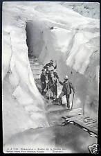 FRANCE~1900's CHAMONIX ~Sortie de la Grotte des Bossons