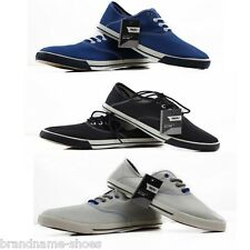 NEW MENS MOSSIMO BLACK BLUE CANVAS SEYMOUR MOSS PLIMSOLLS CASUAL DRESS SHOES