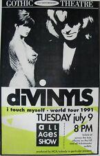 "DiVINYLS 1991 ""I TOUCH MYSELF WORLD TOUR"" DENVER CONCERT POSTER - AUSSIES ROCK!"