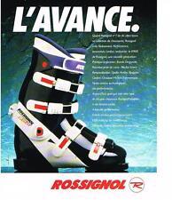 PUBLICITE ADVERTISING  1989   ROSSIGNOL  chaussures de ski