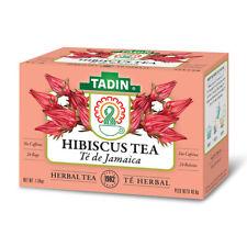 Tadin Herbal Tea Jamaica / Hibiscus. Calming & Caffeine-Free. 24 Bags. 1.44 Oz