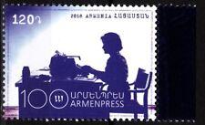 ARMENIA 2018-26 Media Press: Telegraph Agency Armenpress Centenary, MNH