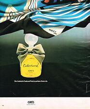 PUBLICITE ADVERTISING 124  1977  GRES   foulard & parfum CABOCHARD