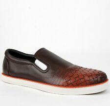 e6d82c1f3ec1c $710 Bottega Veneta Men's Burgundy Leather Dot Print Sneaker 42.5 498955  2283