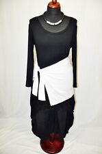 MYO-Lagenlook Zipfel-Glocken-Tunika-Shirt Mini-Streifen Kapuze OVERSIZE EG