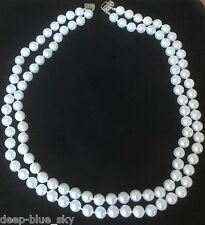 "Akoya Saltwater Pearl Double Strand 17""/18"" Necklace 7.5mm; Appraised at $9,765"