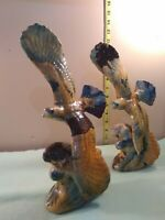 "12""  Flying Eagles Figurines lot of 2, so many beautiful colors."