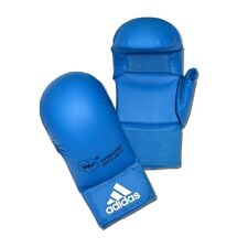 Adidas WKF Karate Mitts with Thumb Blue Competition Sparring Gloves S, M, L, XL