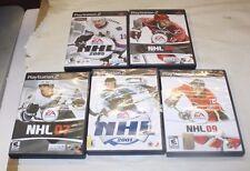 PS2 NHL HOCKEY 5 GAME LOT 2009, 2005, 2008, 2001 & 2007 FREE SHIPPING
