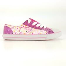 Hello Kitty Girls Floral Pink Glitter Signature Sneakers Shoes Size 4 M