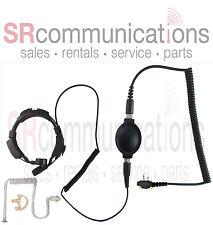 Throat Mic PTT headset Earmold Icom F3031 F4031 F43 F4101D F3101D F3021 F4021