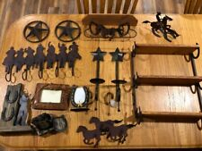 Huge 13 piece lot of Home Interior Western Horses Stars Rustic shelves