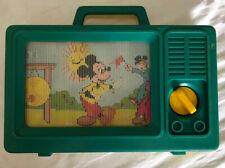 Vintage IDEAL Disney Mickey Mouse Club Plastic Musical TV Wind Up Carry Toy