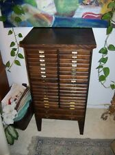 "Vintage Sheet Music Cabinet 34 drawer Brass pulls 45"" tall Office Organizer"