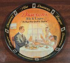 Rare Vintage 1940s Dawson'S Ale & Beer 12� Metal Advertising Tray