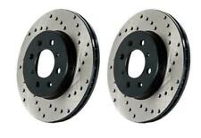 StopTech Drilled Sport Rear Brake Rotors for 12-14 Ford F150 FX2 6 Lug