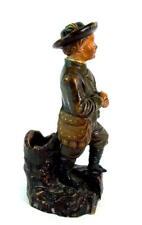 Jugendstil Keramik 1890 -  figürlicher Zigarettenhalter Zündholzhalter - Jäger