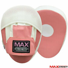 Pink Women Focus Pads Boxing Hook & Jabs Mitts Ladies Fight Gym Training Pad MMA