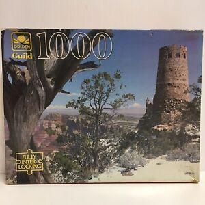 """Vintage Golden Guild Arizona Watchtower - Jigsaw Puzzle 1000pc - 21.5x27.5"""""""