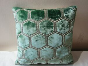 Designers Guild Fabric Manipur Pale Jade Cushion Covers