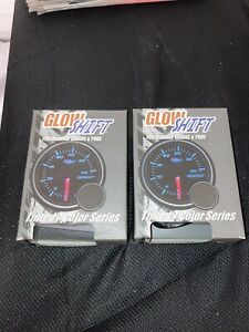 glowshift oil pressure gauge and volt guage