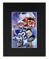 New England Patriots Tom Brady NFL Football Print Picture Photograph Matted 8x10
