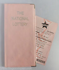 PINK Pearlized Leather National Lottery Ticket Wallet / Purse / Holder NEW