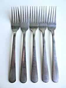 Set of 5 Oneida Stainless Steel Korea Forks Dessert Side Plate Starter