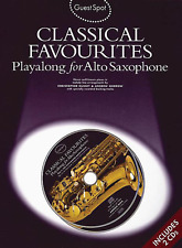 """""""CLASSICAL FAVOURITES"""" PLAY-ALONG FOR ALTO SAX-MUSIC BOOK/CD-SAXOPHONE-NEW-SALE!"""