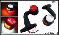 2 x 11 LED Bernstein Rot Weiß Standlicht Marker Blinker Lampe LKW 24V