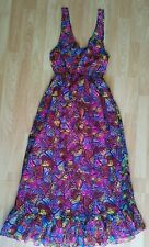 Primark YD Girl's Beautiful Butterfly Print Halterneck Summer Maxi Dress Age...
