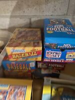 FACTORY SEALED LOT OF OLD VINTAGE UNOPENED NFL FOOTBALL CARDS IN PACKS + BONUSES