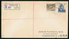 MayfairStamps Australia 1954 Mawson Aust. Antarctic Territory Registered to Flem