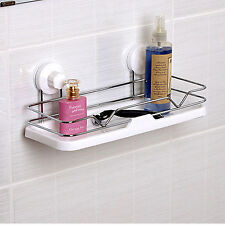AIEN Bathroom Sucker Shower Shelf Holder Wall Mount Storage Caddy Rack Organizer