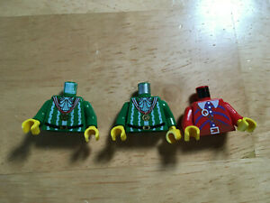 LEGO pirates imperial armada green red minifig torsos