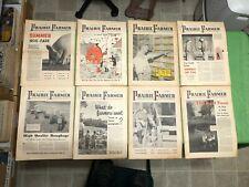 LOT OF 8 1950's PRAIRIE FARMER MAGAZINE FARM AGRICULTURE MINNEAPOLIS-MOLINE CASE