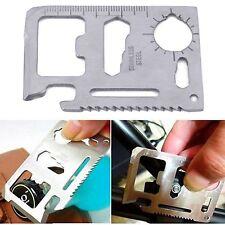 11 in 1 Multifunction Stainless Steel Emergency Pocket Card Survival Multi Tool