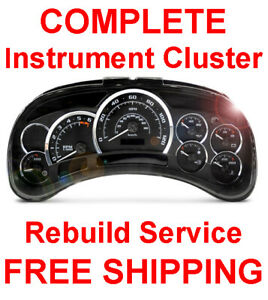 2002-2006 Cadillac Escalade Speedometer Instrument Gauge Cluster Panel REPAIR