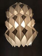 70er años Design geométricamente lámpara blanco Steck-plástico paraguas lamp 70s op art OVNI