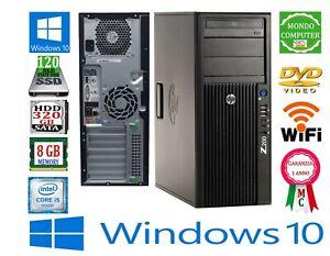 COMPUTER HP Z200 INTEL CORE i 5 _ 8 GB RAM DDR3 120 SSD WIFI WINDOWS 10 PRO