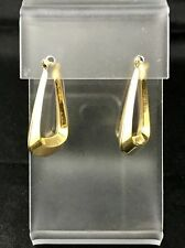 "14K Yellow Gold Vintage ""Triangle"" Wire Earrings"