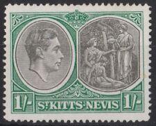 016) St. Kitts & Nevis 1938/50 MM. SG 75 1/- Black & green. Royalty. c£12+