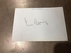 Light blue Card Signed By Australian Captain Ian Craig W/COA