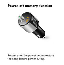 USA Car Bluetooth FM Transmitter Wireless Radio Adapter USB Charger MP3 Player