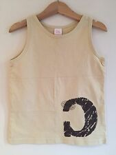 Cake Walk, 4 year Boys, top Vest Style, Designer, Beige C  Graphic