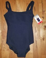 NWT Womens Black Bubble ESSENTIALS BY GOTTEX One-Piece Swimsuit Size 18