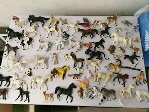 énorme lot de+ 60 figurines cheval princesse animaux divers mark SCHLEICH PAPO