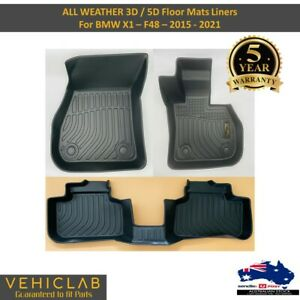 3D / 5D TPE All Weather Floor Mats Liner for BMW X1 F48 Series 2015 - 2021